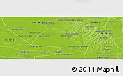 Physical Panoramic Map of San Ignacio