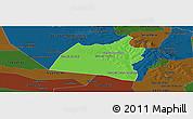 Political Panoramic Map of San Ignacio, darken