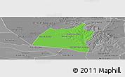 Political Panoramic Map of San Ignacio, desaturated