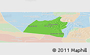 Political Panoramic Map of San Ignacio, lighten