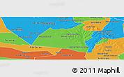 Political Panoramic Map of San Ignacio