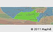 Political Panoramic Map of San Ignacio, semi-desaturated