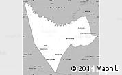 Gray Simple Map of San Juan Bautista