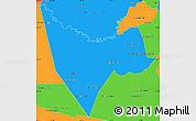 Political Simple Map of San Juan Bautista