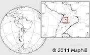 Blank Location Map of Villa Florida