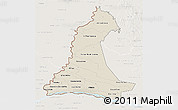 Shaded Relief 3D Map of Neembucu, lighten
