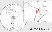 Blank Location Map of Alberdi