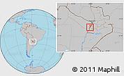 Gray Location Map of Alberdi