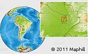 Physical Location Map of Alberdi