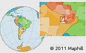 Political Location Map of Alberdi, highlighted parent region