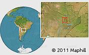 Satellite Location Map of Alberdi