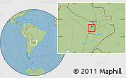 Savanna Style Location Map of Alberdi