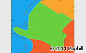 Political Simple Map of Alberdi