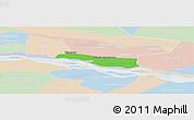 Political Panoramic Map of Cerrito, lighten