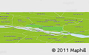 Political Panoramic Map of Cerrito, physical outside