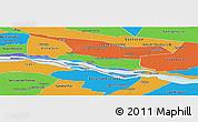 Political Panoramic Map of Cerrito