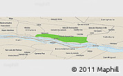 Political Panoramic Map of Cerrito, shaded relief outside