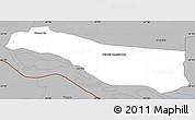 Gray Simple Map of Cerrito