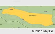 Savanna Style Simple Map of Cerrito