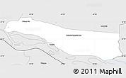 Silver Style Simple Map of Cerrito