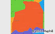 Political Simple Map of Gral. Jose E. Diaz