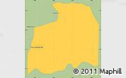 Savanna Style Simple Map of Gral. Jose E. Diaz