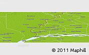 Physical Panoramic Map of Humaita