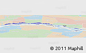 Political Panoramic Map of Isla (Rio Parana), lighten