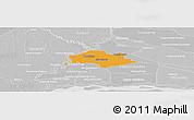 Political Panoramic Map of Isla Umbu, lighten, desaturated