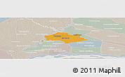 Political Panoramic Map of Isla Umbu, lighten, semi-desaturated