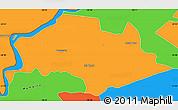 Political Simple Map of Isla Umbu