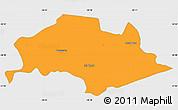 Political Simple Map of Isla Umbu, single color outside