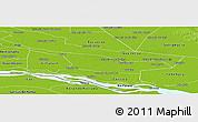 Physical Panoramic Map of Laureles