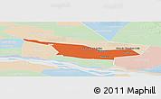 Political Panoramic Map of Laureles, lighten
