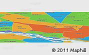 Political Panoramic Map of Laureles