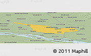 Savanna Style Panoramic Map of Laureles