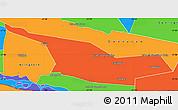 Political Simple Map of Laureles