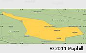 Savanna Style Simple Map of Laureles