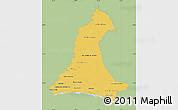 Savanna Style Map of Neembucu, single color outside