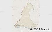 Shaded Relief Map of Neembucu, lighten