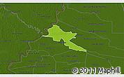 Physical 3D Map of Pilar, darken