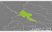Physical 3D Map of Pilar, desaturated