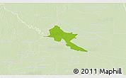 Physical 3D Map of Pilar, lighten