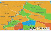 Political 3D Map of Pilar