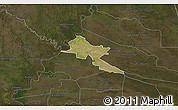 Satellite 3D Map of Pilar, darken