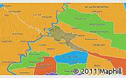 Satellite 3D Map of Pilar, political outside