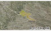 Satellite 3D Map of Pilar, semi-desaturated