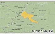 Savanna Style 3D Map of Pilar
