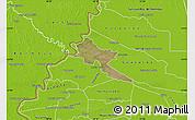 Satellite Map of Pilar, physical outside