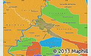 Satellite Map of Pilar, political outside